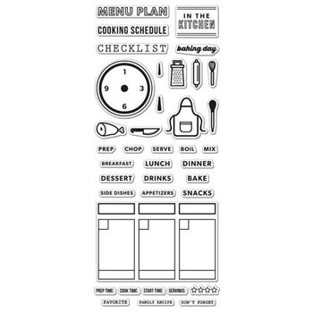Hero Arts Kelly Purkey Clear Stamps KELLY'S COOKING PLANNER CL992