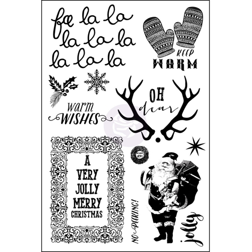 Prima Marketing SWEET PEPPERMINT Cling Stamp Set 991449* Preview Image