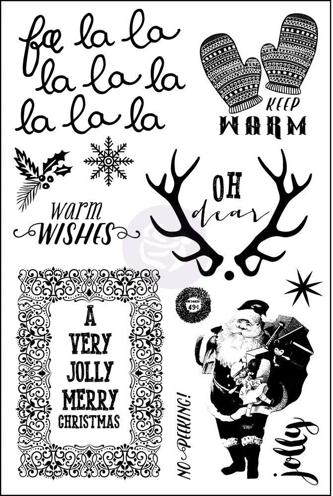 Prima Marketing SWEET PEPPERMINT Cling Stamp Set 991449* zoom image