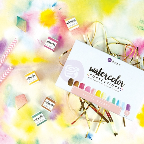 Prima Marketing PASTEL DREAMS Watercolor Confections Set 590253 Preview Image