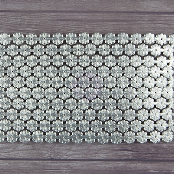Prima Flowers DAISY CHAIN LARGE SILVER Dresden 942809