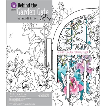 Prima Flowers BEHIND THE GATE MULTIMEDIA COLORING BOOK 588328