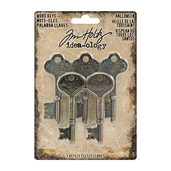 RESERVE Tim Holtz Idea-ology METAL WORD KEYS TH93319