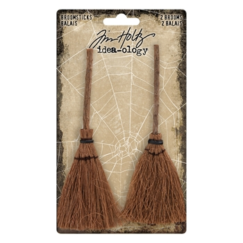 Tim Holtz Idea-ology BROOMSTICKS TH93318*