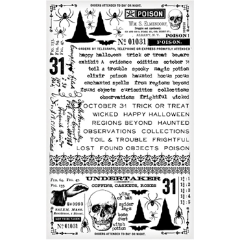RESERVE Tim Holtz Idea-ology GOTHIC Remnant Rubs TH93308