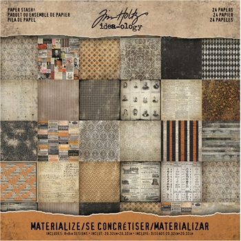 Tim Holtz Idea-ology Paper Stash MATERIALIZE 8 x 8 Cardstock Pack TH93303*