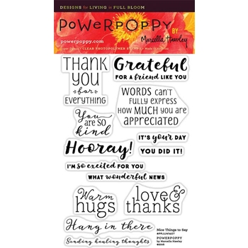 Power Poppy NICE THINGS TO SAY Midsummer Stunner Clear Stamp Set PPJUN1607