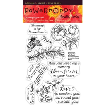 Power Poppy SOOTHING SYMPATHY Midsummer Stunner Clear Stamp Set PPJUN1605