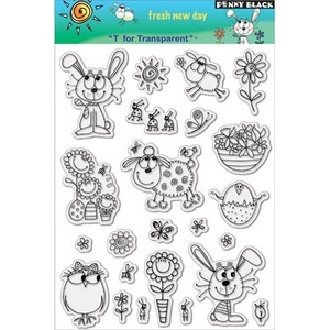 Penny Black Clear Stamps FRESH NEW DAY Easter 30-010