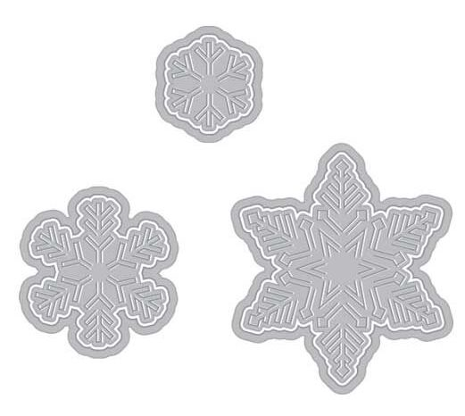 Hero Arts PAPER LAYERING SNOWFLAKE DIES with Frame DI196 zoom image