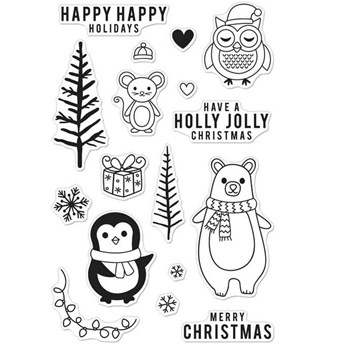 Hero Arts Clear Stamps HOLIDAY ANIMALS CM103