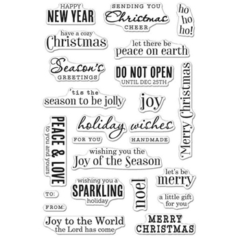 Hero Arts Clear Stamps CHRISTMAS MESSAGES CM100