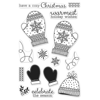 Hero Arts Clear Stamps HOLIDAY MITTENS CL999