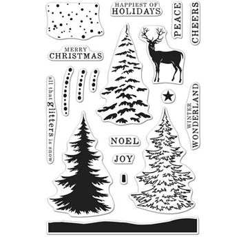 Hero Arts Clear Stamps COLOR LAYERING SNOWY TREE CL997