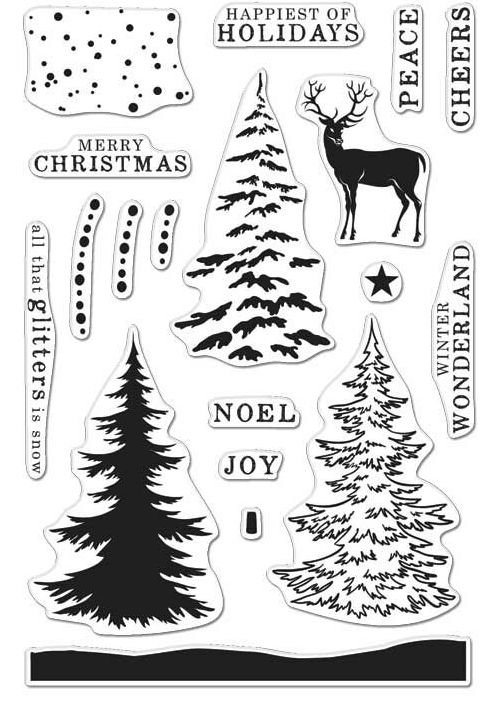 Hero Arts Clear Stamps COLOR LAYERING SNOWY TREE CL997 zoom image