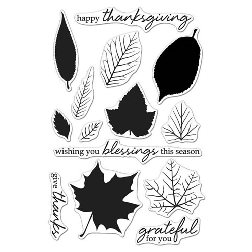 Hero Arts Clear Stamps COLOR LAYERING GRATEFUL LEAVES CL987 Preview Image