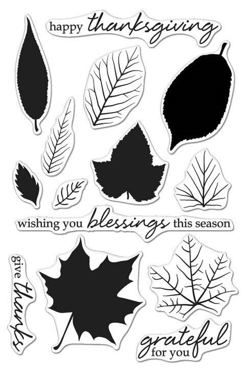 Hero Arts Clear Stamps COLOR LAYERING GRATEFUL LEAVES CL987 zoom image