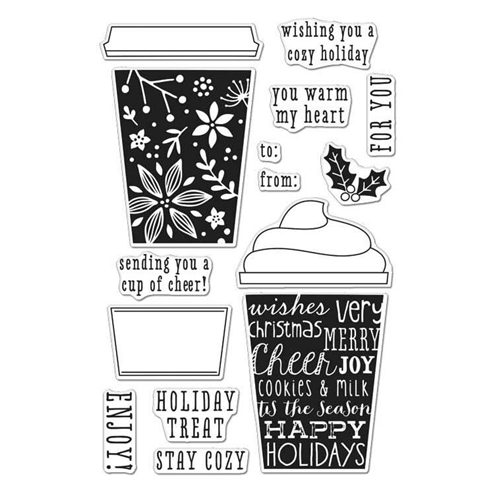 Hero Arts Clear Stamps COFFEE CUP TAGS CL986 Preview Image