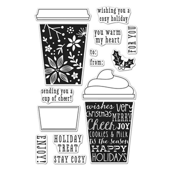 Hero Arts Clear Stamps COFFEE CUP TAGS CL986