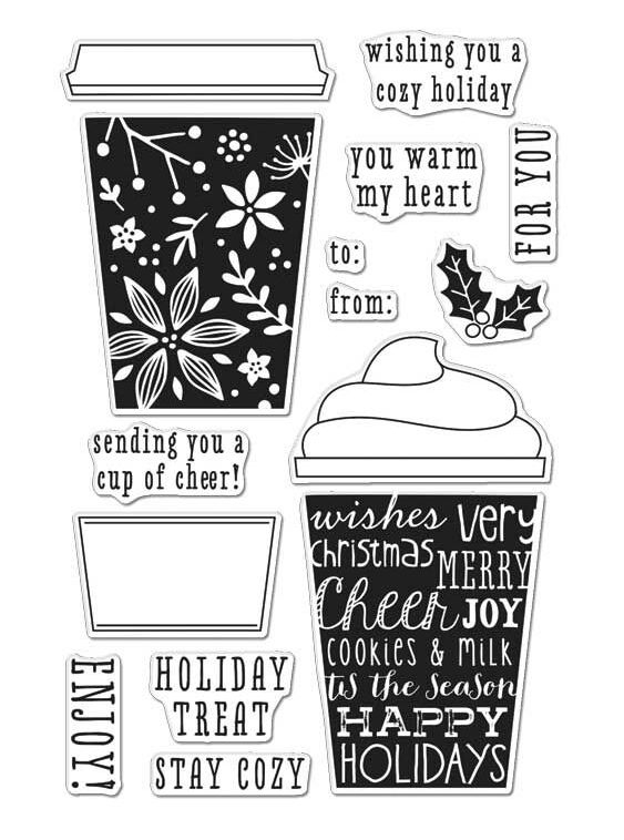 Hero Arts Clear Stamps COFFEE CUP TAGS CL986 zoom image