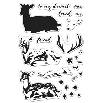 Hero Arts Clear Stamps COLOR LAYERING DEER CL985