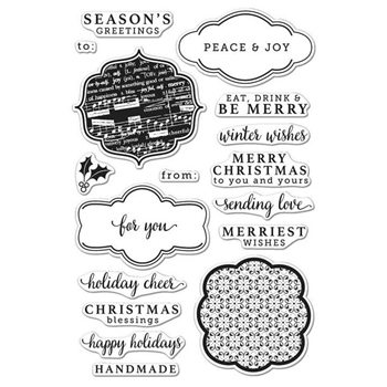 Hero Arts Clear Stamps HOLIDAY MESSAGES AND TAGS CL983