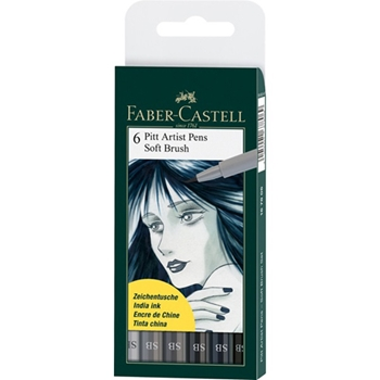 Faber-Castell SHADES OF GREY BRUSH PITT Artist Pens 167806