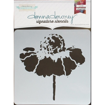 Donna Downey CONE FLOWER Signature Stencil DD097
