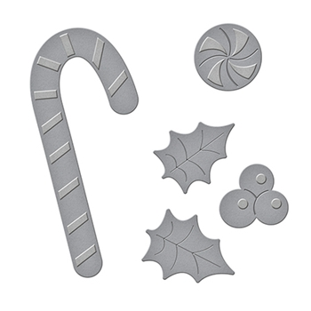 S2-231 Spellbinders D-Lites Holiday PEPPERMINT STICK Etched Dies
