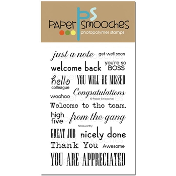 Paper Smooches NOTEWORTHY Clear Stamps A2S271