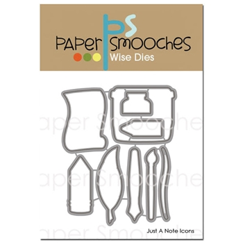 Paper Smooches JUST A NOTE ICONS Wise Dies A2D336