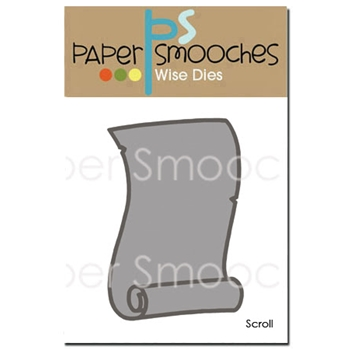 Paper Smooches SCROLL Wise Die A2D340