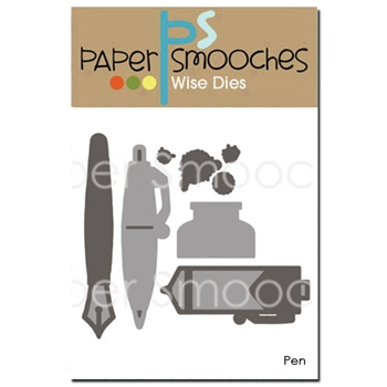 Paper Smooches PEN Wise Dies A2D338