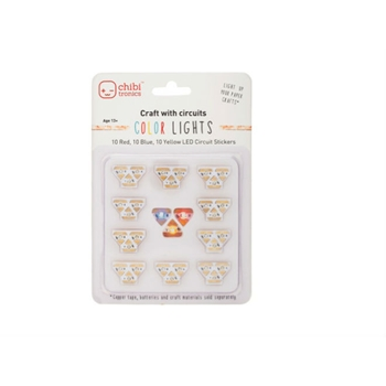 Chibitronics COLOR LED CIRCUIT LIGHTS Stickers 675339