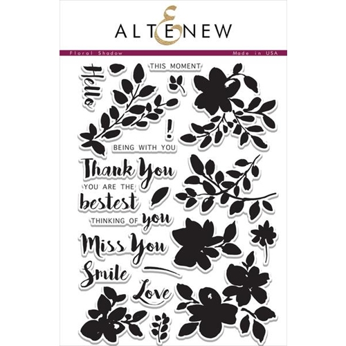 Altenew FLORAL SHADOW Clear Stamp Set  Preview Image