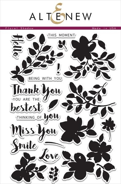 Altenew FLORAL SHADOW Clear Stamp Set  zoom image