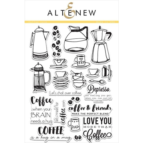 Altenew COFFEE LOVE Clear Stamp Set ALT1112 Preview Image