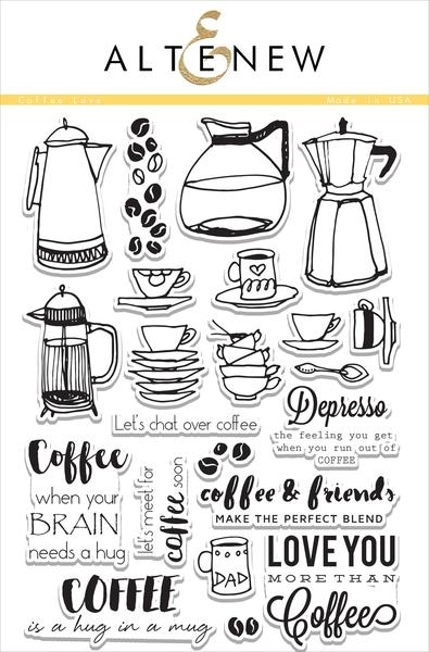 Altenew Coffee Love Clear Stamp Set
