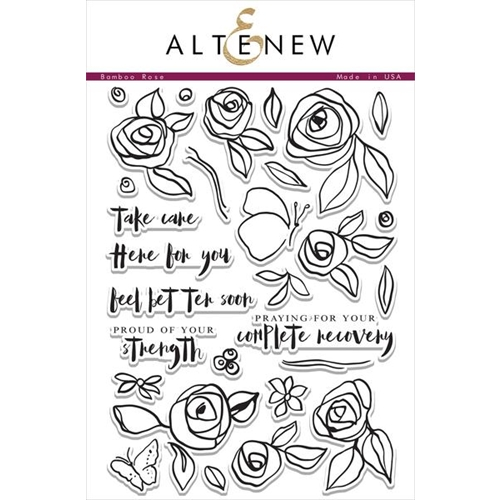 Altenew BAMBOO ROSE Clear Stamp Set Preview Image