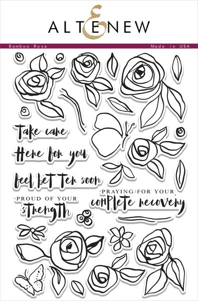 Altenew BAMBOO ROSE Clear Stamp Set zoom image