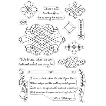 Hero Arts SHAKESPEAREAN POETRY Clear Stamp Set CM106