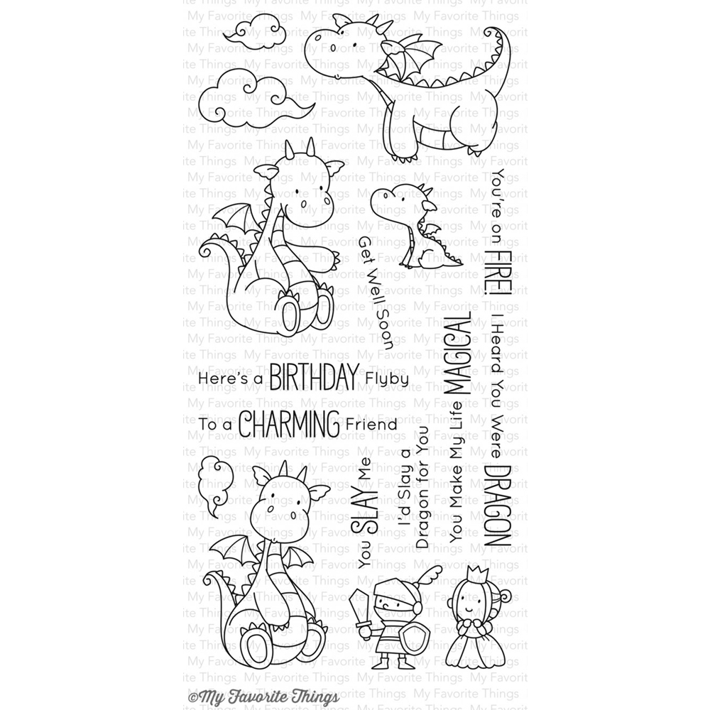 My Favorite Things MAGICAL DRAGONS Clear Stamps BB37 zoom image
