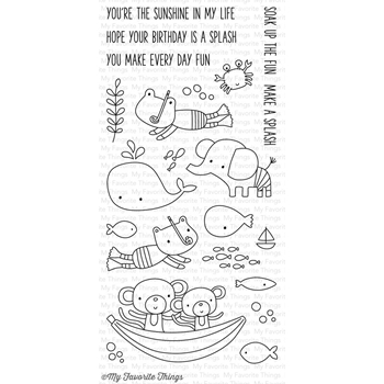 My Favorite Things SOAK UP THE FUN Clear Stamps CS135