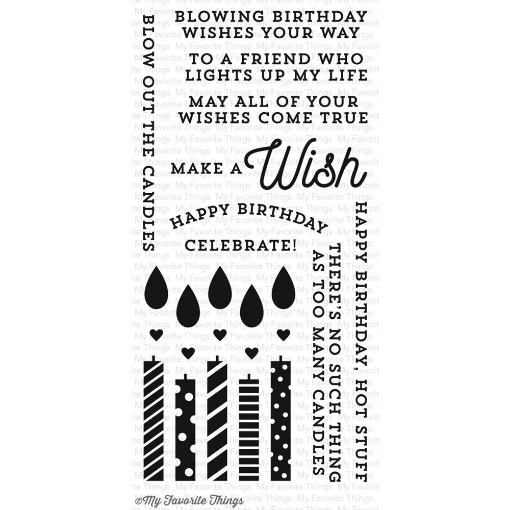 My Favorite Things MAKE A WISH Clear Stamps CS129 zoom image