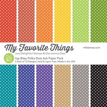 My Favorite Things ITSY BITSY POLKA DOTS 6x6 Paper Pack 14363