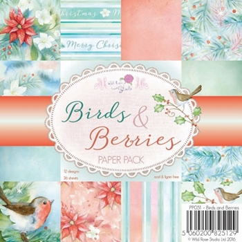 Wild Rose Studio BIRDS AND BERRIES 6x6 Paper Pack PP051