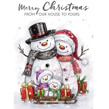 Wild Rose Studio SNOWMAN FAMILY Clear Stamp Set CL496
