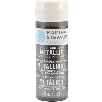 Martha Stewart TITANIUM 2oz Multi-Surface METALLIC Acrylic Paint 32993