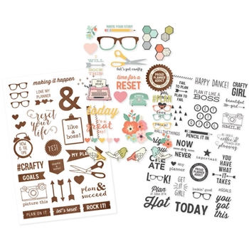 Simple Stories THE RESET GIRL Clear Stickers 4996