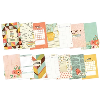 Simple Stories THE RESET GIRL Monthly Inserts 4976